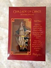 "NEW in Box, ""OUR LADY OF GRACE 4"" STATUE"" by Milagros  PRISTINE & EXQUISITE"