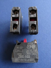 3 Stück Telemecanique ZBE-102 Kontakt Blöcke