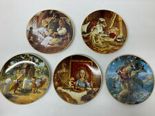 """Lot: 5 Knowles """"Classic Fairy Tales"""" Collector Plates Gustafson #1-5 W/ All Coa"""