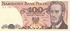 POLOGNE/P143e// Billet de 100 ZLOTY-1/6/1986