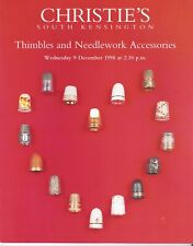 Auction Catalogue CHRISTIES Thimbles and Needlework Accessories December 1998
