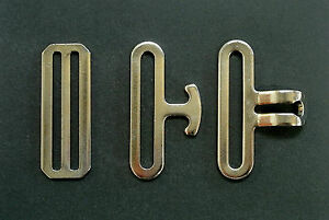 "New 2""/50mm Nickel Surcingle Clip Sets Male Female 3 Bar Slides Horse Rug Repair"