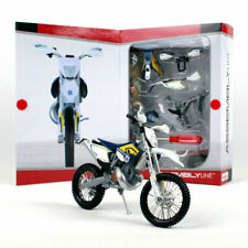 Husqvana TE FE Scale Model 1:12 Maisto Toy Bike Assembly Kit Die Cast Motocross