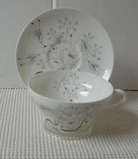 Wedgwood WILD OATS Platinum CUP & SAUCER (s) Bone China Pattern W4166 England