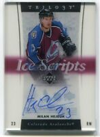 2005-06 Upper Deck Trilogy Ice Scripts MH Milan Hejduk Auto