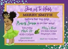 Princess Tiana Baby Shower Invitation, Princess Tiana, Baby Shower, Invitations