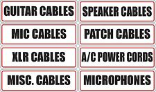 Cable Organizing Labels Pro Audio Live PA Studio Cable Microphone Speaker