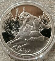 1 OZ .999 SILVER COIN LISA PARKER SNOW KISSES  # COA Limited to 750 WOLF ART NEW