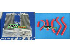 aluminum Radiator + red HOSE HONDA CR250 CR 250 CR250R CR 250R 88-89 1988 1989