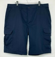 Red Kap Men's Navy Blue Cargo Shorts 6 Pocket Back 2 and Thigh w Snap Size 40