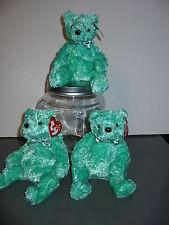 Ty Beanie Babies Luck-e Green Shamrock Bow Ty Store Bear Irish St Patricks Day