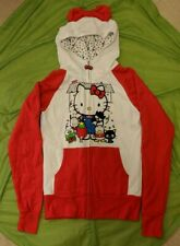 Nwt Hello Kitty Red Bow Sanrio Friends Zip Hoodie 50th Anniversary Juniors Small