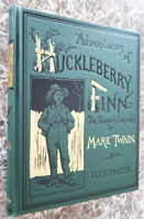 Adventures of Huckleberry Finn, BEST Facsimile of 1885 First Edition~Mark Twain