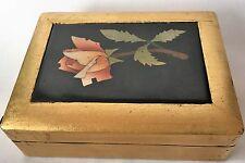 Great italian Micro Mosaic Wooden Box Marble Intarsia Pietra Dura