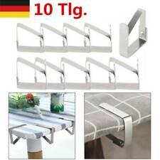 10x Edelstahl Tischtuch Klammern Tischdeckenklammer Tischtuchhalter Halter Clip