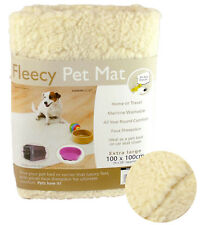Extra Large Faux Sheepskin Fleece Pet Mat Dog Cat Bed Car Seat Cover Blanket