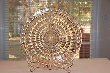 "30's LARGE Windsor Diamond PINK 13 5/8"" Chop Plate Depression Glass Jeannette Co"