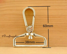 Lobster Clasps Clips Claw purse hooks Swivel snap hook light gold 38mm 6pcs AC22