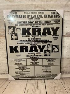 KRAY Brothers HB London Gangsters Krays Boxing Match Poster Picture WALL ART New