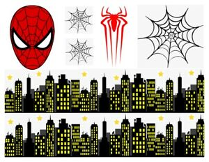 A4 MAKE YOUR OWN SPIDER MAN THEME CAKE EDIBLE FONDANT / WAFER CAKE TOPPER