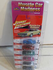 JOHNNY LIGHTNING 6 CAR PACK - MUSCLE CAR MADNESS - '66 CHEVELLE '68 CHARGER