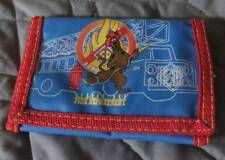 SCOOBY DOO Firefighter Child's WALLET Billfold Nylon Fireman Money Holder Fire