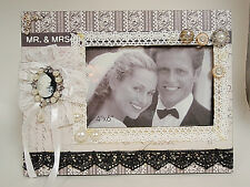 Wedding picture frame photo frame holds 4X6 photo NIB free shipping