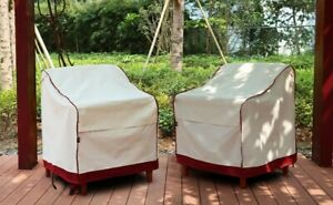 🎁Patio Chair Covers Outdoor Durable Waterproof Storage Sofa Coach Large 2 pks🎁