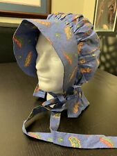 Woman's / Girl's Civil War re-enacting Blue Cotton 19th Century Sun Bonnet, NEW