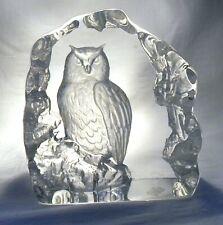 More details for mats jonasson glass bird long eared owl sculpture