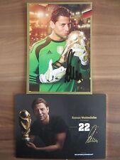Handsignierte AK Autogrammkarte *ROMAN WEIDENFELLER* DFB WM 2014 Gold Edition