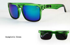 KEN BLOCK SUNGLASSES  MEN CYCLING SPY SUNGLASS ASYMPTOTIC GREEN RIMMED FULL KIT