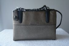NEW Coach Purse Leather 33619 Mini Turnlock BOROUGH w/Chain Shoulder Satchel Bag