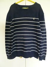 Boys BLUE ZOO Navy Striped Jumper Age 9 -10 years