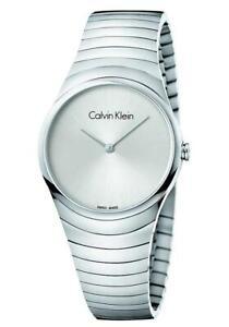Orologio Donna CK CALVIN KLEIN WHIRL K8A23146 Acciaio Silver SWISS MADE