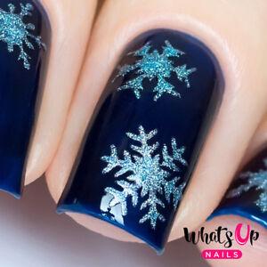 Silver Merry Snowflakes Stencils for Nails, Christmas Nails, Nail Art