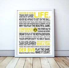 "Borussia Dortmund ""Soccer Is Your Life"" Manifesto Poster, 17"" x 22"""