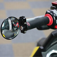 "1 Pair Universal 7/8"" Motorcycle Folded Rearview Mirror Handle Bar End Mirror US"