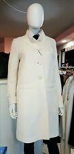 Cappotto bianco misto lana cotone Marella Taglia 48