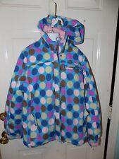 Mini Boden Blue W/Polka Dot Winter Coat Size 11-12Y Girl's