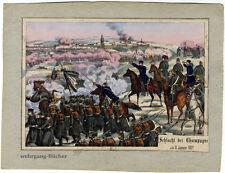 Altkolorierte Lithographie, Deutsch-Französischer Krieg, 1870-71