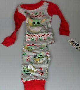 12M Disney Star Wars baby Yoda Christmas pajamas sleep ware pj's Mandalorian