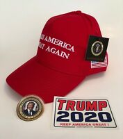 President Donald Trump Hat....Make America Great Again....MAGA...Red + 2 Decals