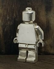 LEGO Pure Silver Minifigure Prototype Rarer than SDCC Mr Gold