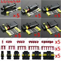 30 Kit 1 2 3 4 5 6 Pin Electrical Wire Connector Plug Sealed Waterproof Motor