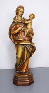 Südtirol - Madonna mit Kind, handgeschnitzt - 25 cm