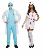 SEXY NURSE DOCTOR Fancy Dress Costume Mens Ladies Couples Adults Accessories