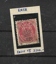 Iceland superb crown circle on 10aur Erta min cat 2200SeK in Facit (I148)