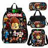 ROBLOX Backpack Student Schoolbag Set Lunch Bag Pen Bag Crossbody 4PCS Kids Gift