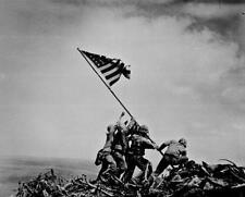 Raising the Flag on Iwo Jima 12x18 Poster Print US Marines Military World War II